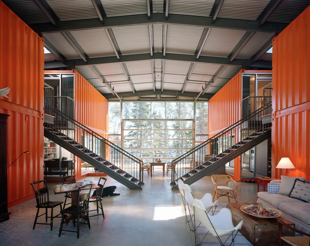 12 containers House